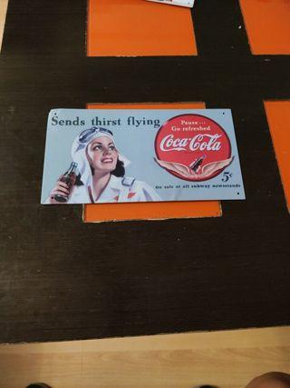 Chapa reproducción publicidad de Coca Cola