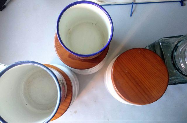 Botes tarros cocina vintage Porcelana Grissons