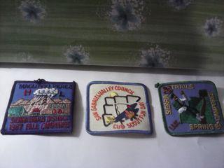 lote 3 insignias boy scout san gabriel años 60