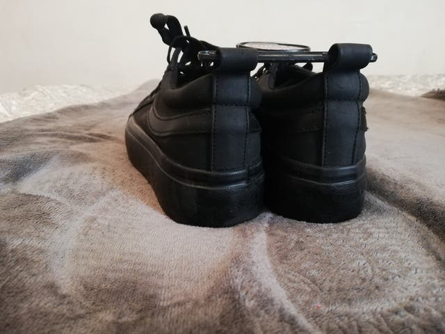 black new with tags womens size 4 trainers flat