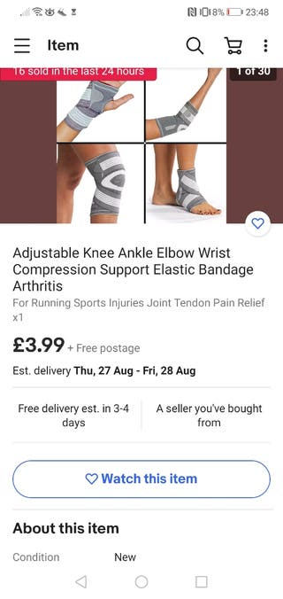 Knee Ankle Elbow Wrist Compression support