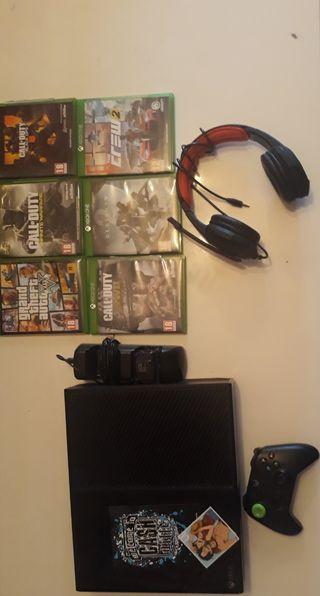 Xbox one + Casque + 7 jeux