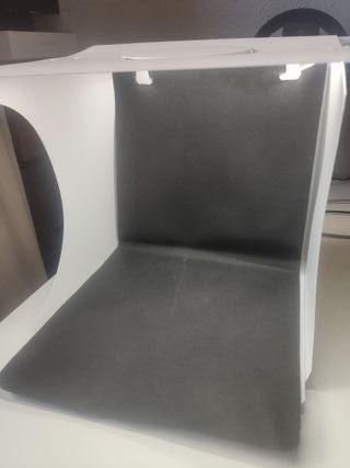 caja de luz portátil, plegable, 23 x 22 x 22 cm