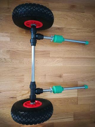 Carrito kayak, inoxidable ruedas neumáticas