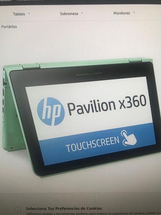 Portátil convertible y táctil. HP Pavilion x360