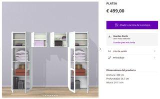 PLATSA IKEA CÓMO NUEVOS ARMARIO