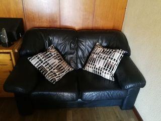 Sofá de cuero dos plazas