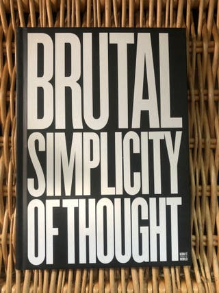 Libro Brutal Simplicity of Thought Saatchi