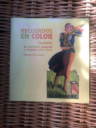 Libro Recuerdos en color carteles de publicidad