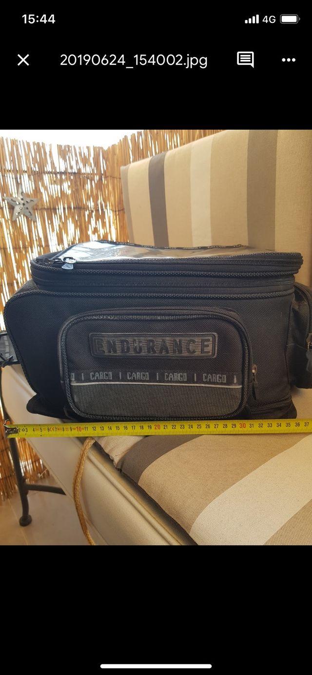 Sobre depósito moto bolsa viaje maleta