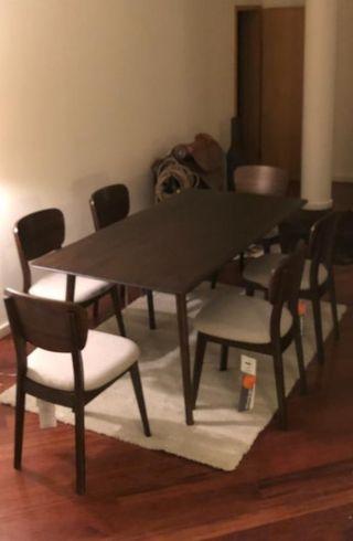 Mesa de comedor y sillas (SIN USAR, NUEVO)