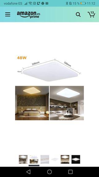 lampara de techo luz Led