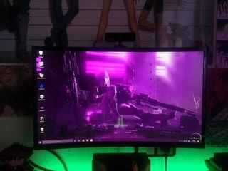 "MONITOR SAMSUNG FHD 1080P 60HZ CURVO 24"""