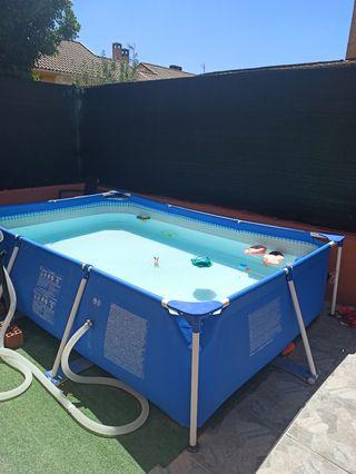 piscina Intex 3 x 2 y calentador solar intex