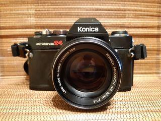 Konica T4 y Konica Hexanon 50 mm 1.4