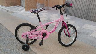 Bicicleta infantil B-PRO JR16. Rosa