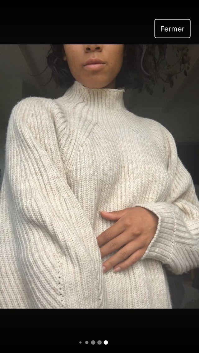 Robe pull beige