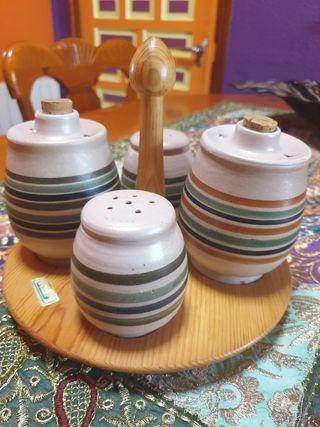 aceitera ceramica vintage nunca estrenada