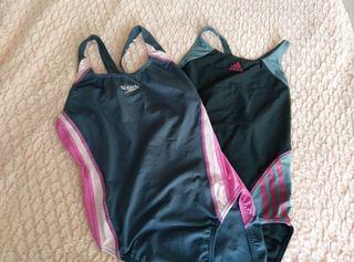 Lote dos bañadores Olímpicos mujer.