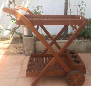 Camarera de madera de jardín plegable