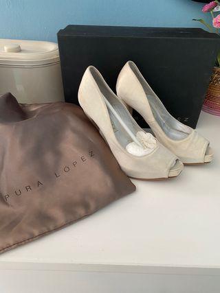 Zapatos novia Pura Lopez