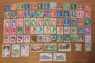 Lote de 75 sellos de Francia