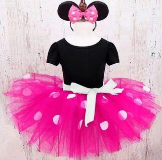 vestido disfraz Minnie nuevo 1/2/3/4 AÑOS