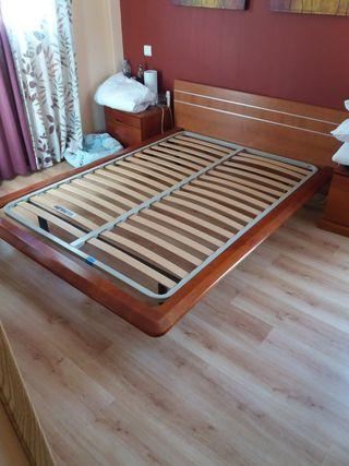 Somier con cabecero cama matrimonio