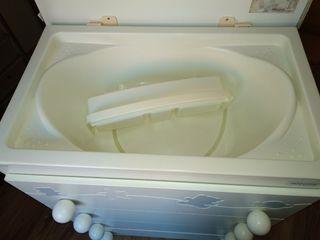 Micuna, Cambiador y bañera, unisex, blanco y azul