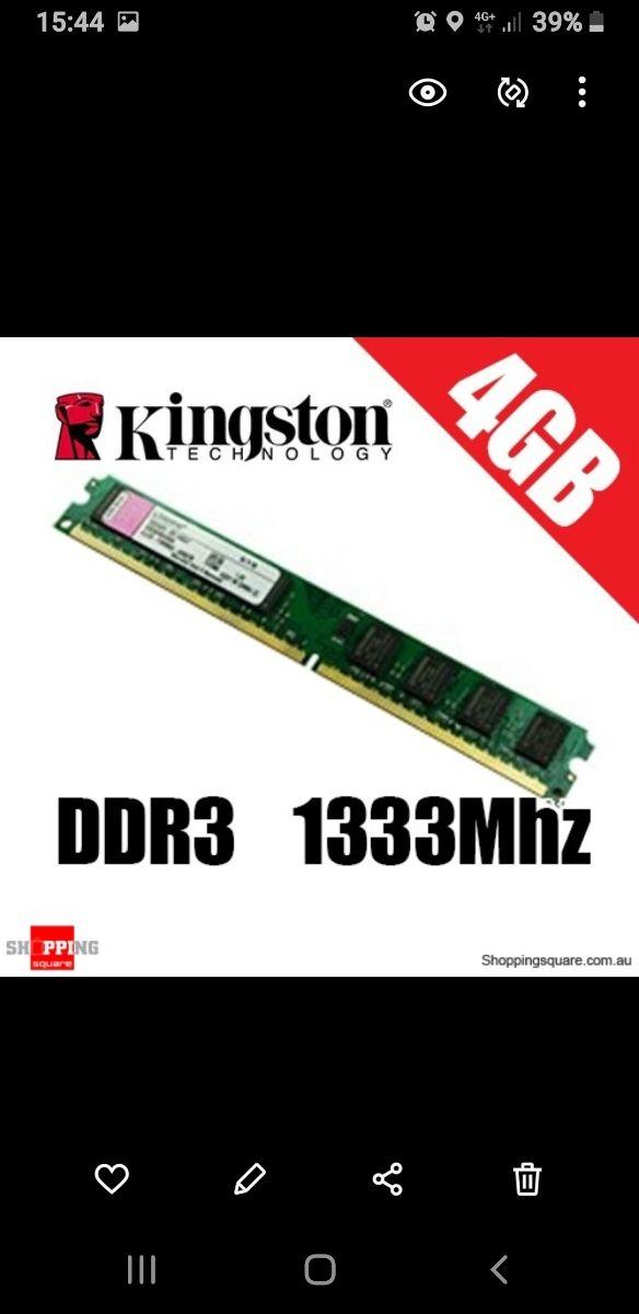 KINGTON DDR3 4GB 1333MZH