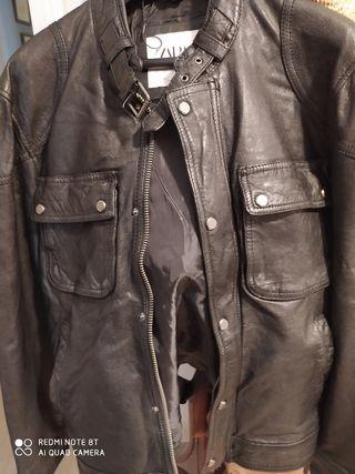 chaqueta cuero zara