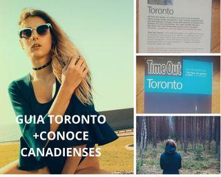 Guia Toronto+amigos canadienses+mapa regalo