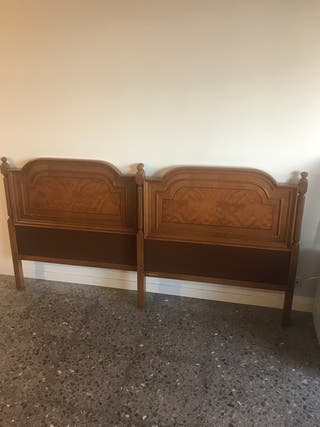 Cabezales cama individuales madera maciza