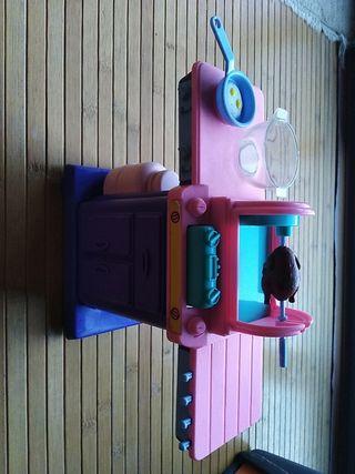 Barbacoa Barbie y accesorios