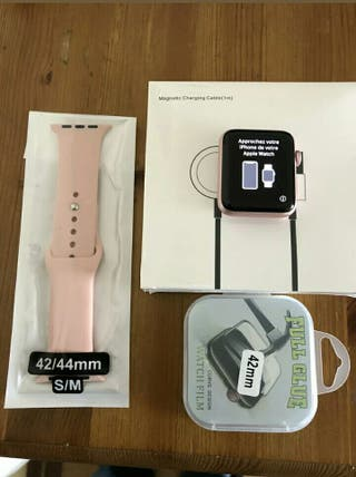 Used Apple watch series 2 rose gold band 42mm