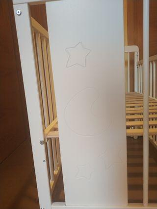 Cuna blanca 120x60 marca Baby mobel como nueva
