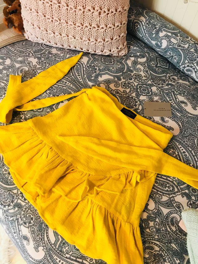 Falda verano-primavera ZARA amarillo