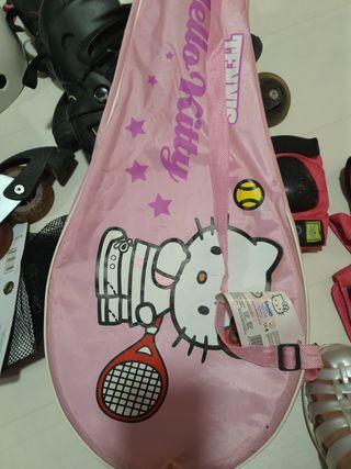 2 raquetas de tenis Hello Kitty con funda