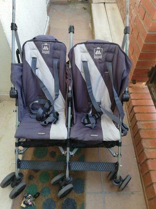 carrito paseo gemelos maclaren
