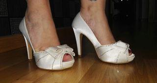 zapatos novia/fiesta coquette