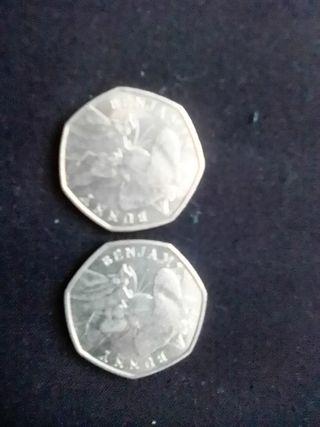 2 Benjamin bunny 50p CP n rere