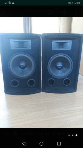 Conjunto altavoces + amplificador