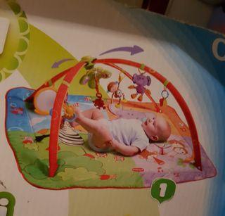 gimnasio manta de suelo para bebés con arco