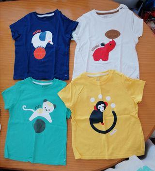 Camisetas con dibujos de animales (98 cm). Obaibi.