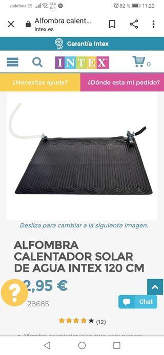 calentador solar intex