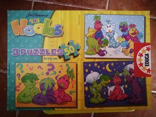 3 puzzles de 50 piezas