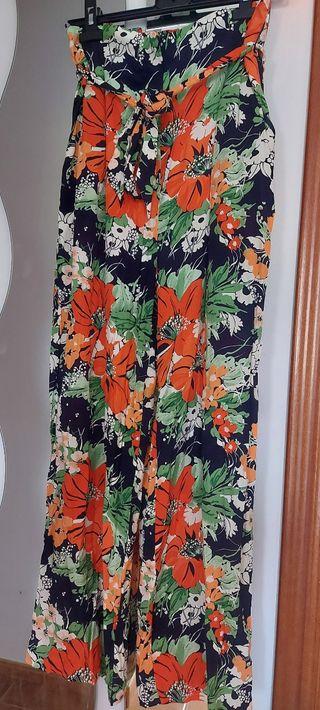 Pantalón Palazzo de flores de Zara