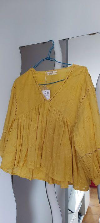 Blusa amarilla de Pull&Bear