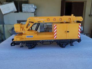 Vagón grúa LGB 4042 Matra