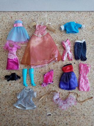 lote de ropa barbie